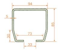 Направляющий рельс (консоль, балка) для откатных ворот