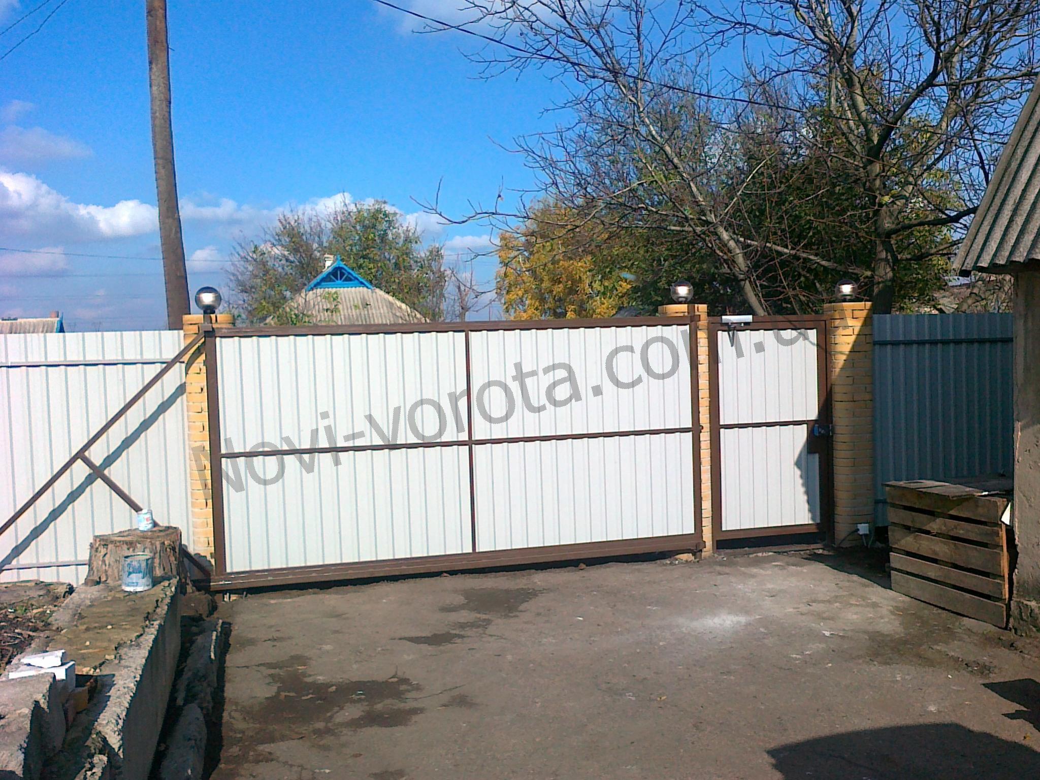 откатные ворота Полтава