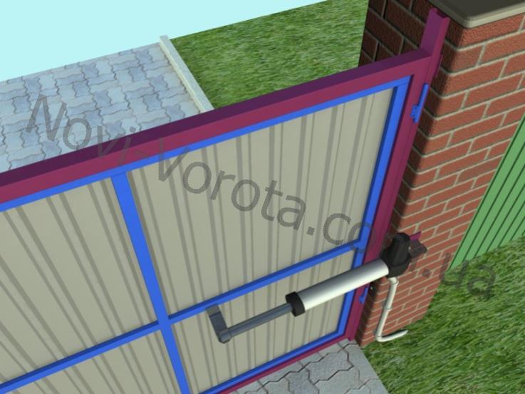 Автоматические распашные ворота своими руками чертеж