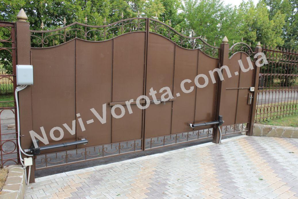 Дворовые ворота в сумах устройство откатных ворот сделай сам