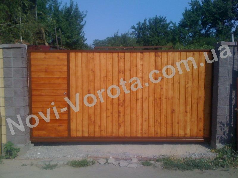 Деревянные откатные ворота Ялта