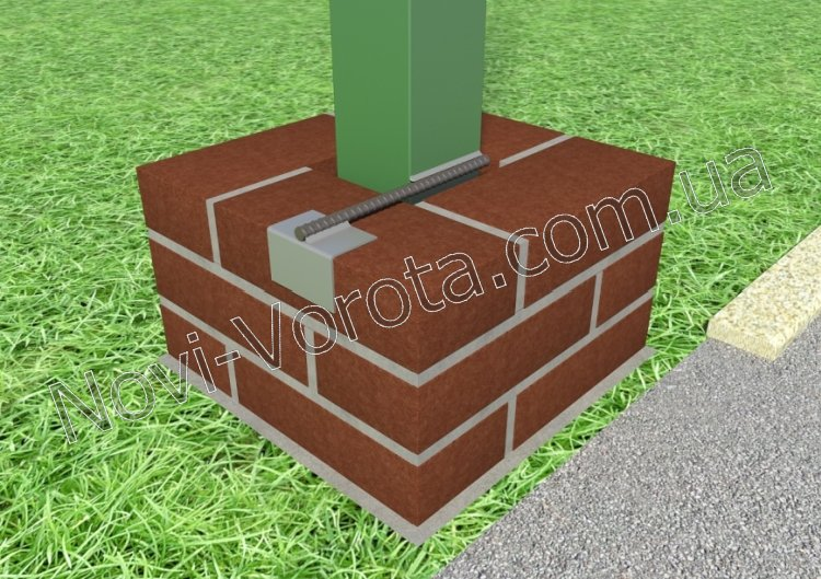 Ворота на кирпичных столбах своими руками видео