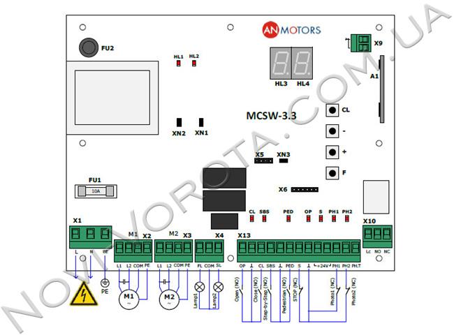 Плата управления CUSD-1 для AN-Motors ASW 3000