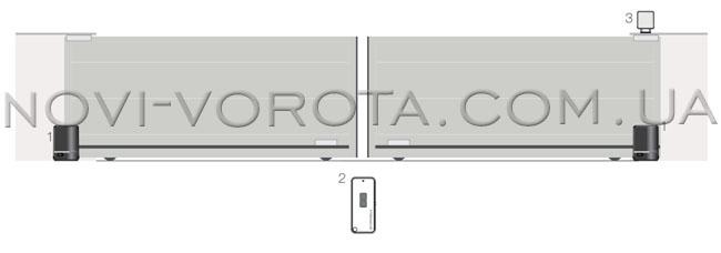 инсталляция ворот автоматикой Comunello Fort1000DUAL
